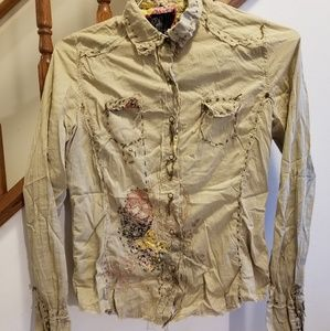 MISS ME collared blouse/shirt, size L(runs small)